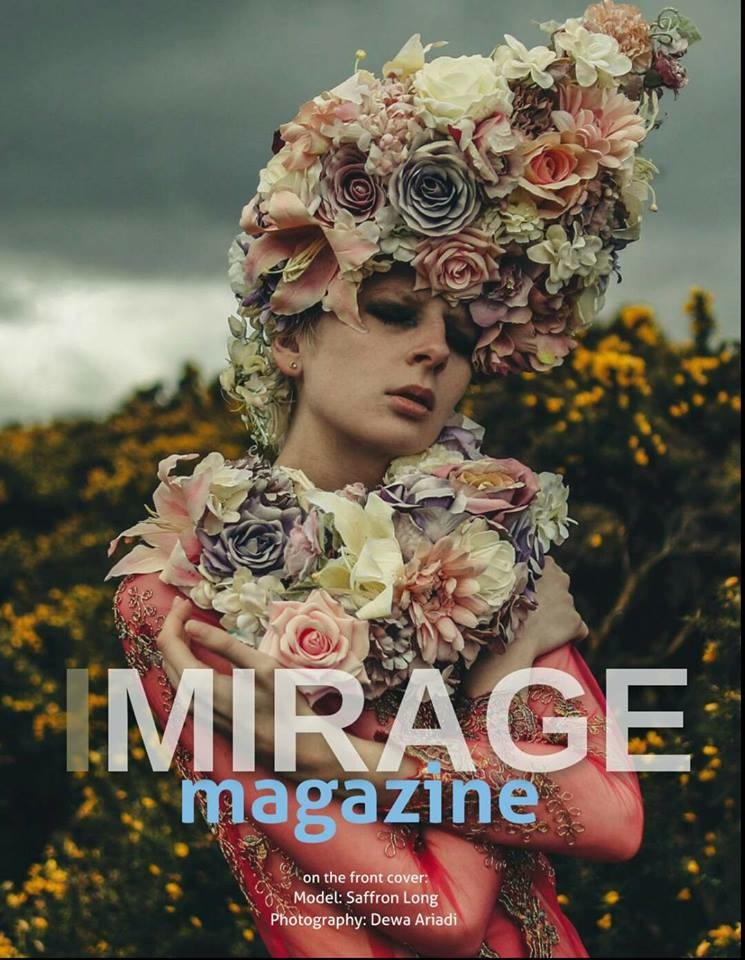 Imirage Magazine Isla Campbell Millinery Dewa Ariadi Saffron Long