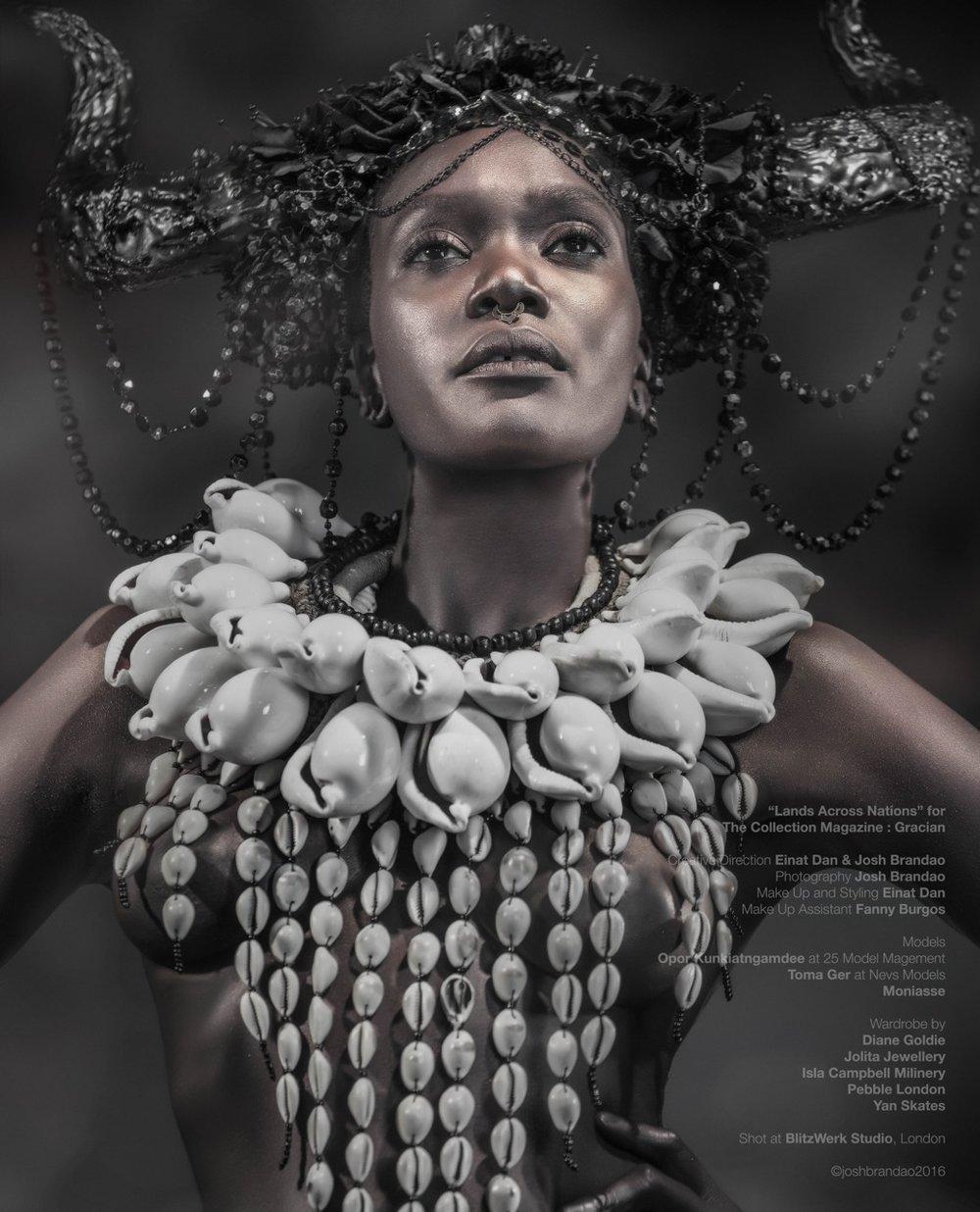 Gracian Magazine - Lands Across Nations - Diane Goldie Einat Dan Isla Campbell Millinery Josh Brandao Moniasse Pebble London Jolita Jewellery