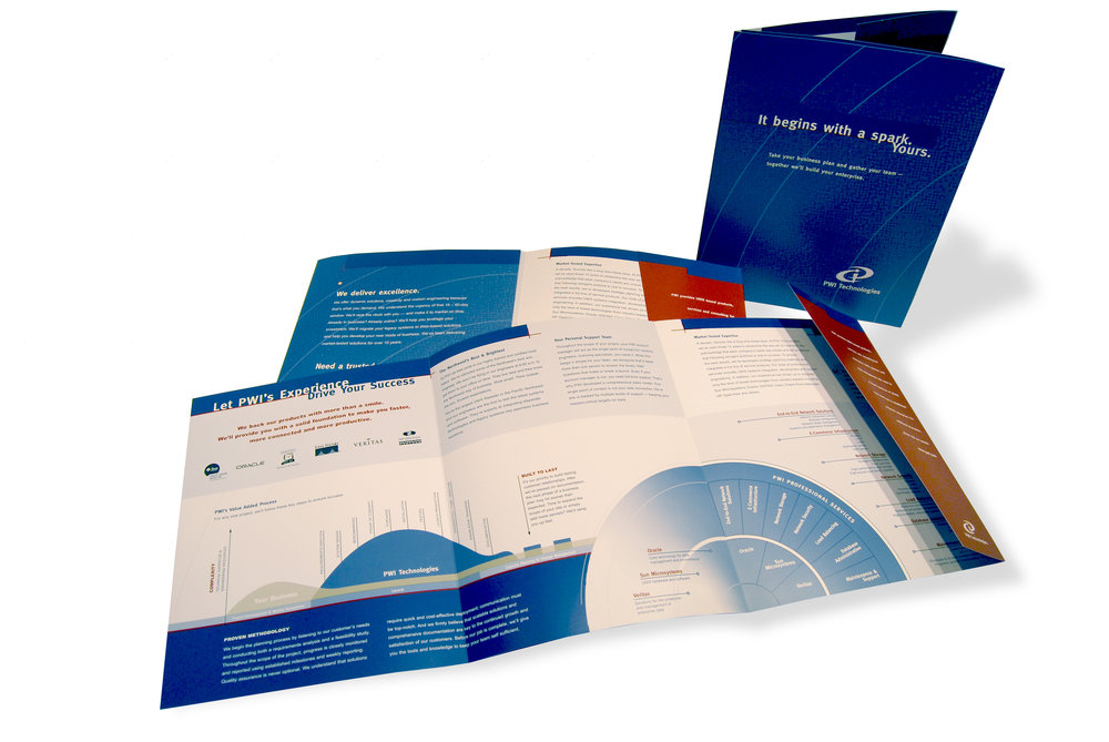 PWI Technologies Overview brochure highlights PWI's internal process as compared to other competitors