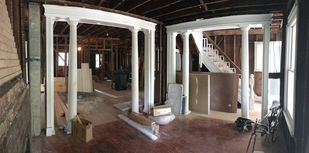 The current phase of renovation of Max & Michael's home renovation.
