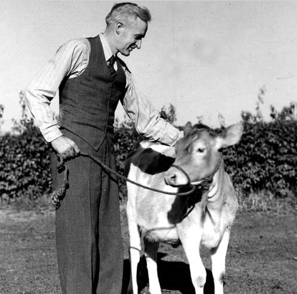 Heifer International founder Dan West. Photo:  Manchester University .