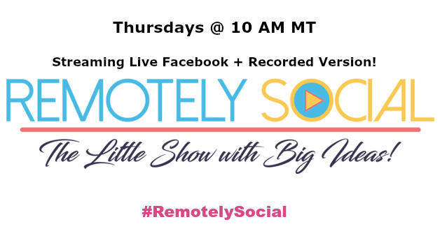 Remotely Social Santa Fe New Mexico Social Media Marketing Facebook Live TV show hashtags Simply Social Media Cherry Pie Social