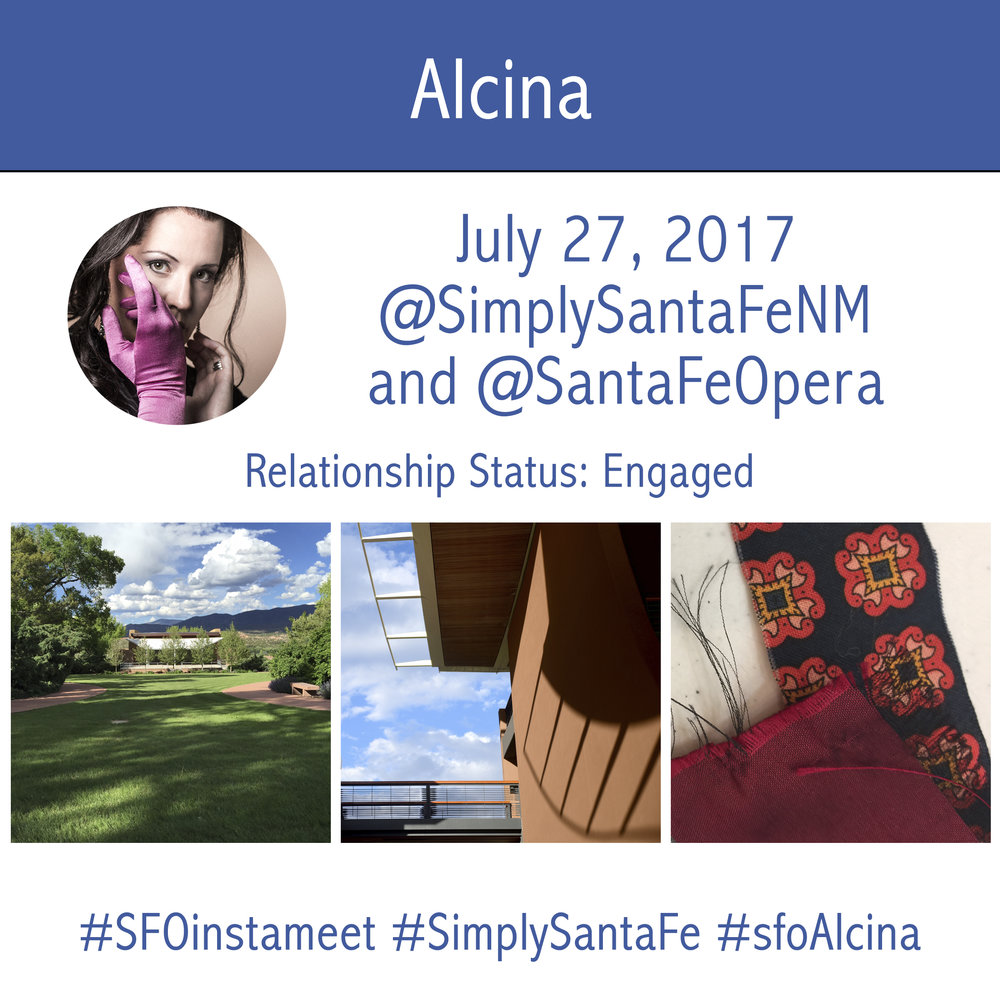 Alcina InstaMeet at the Santa Fe Opera