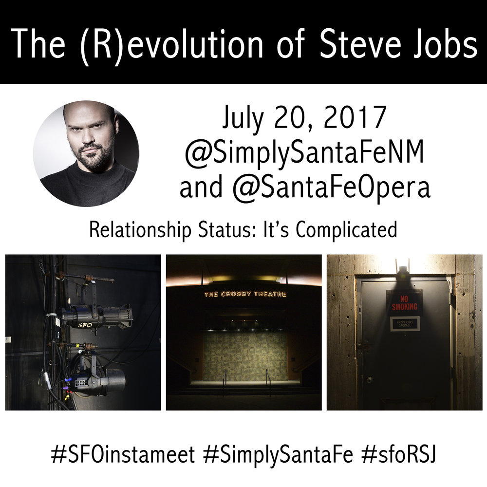 (R)evolution of Steve Jobs Alcina InstaMeet at the Santa Fe Opera