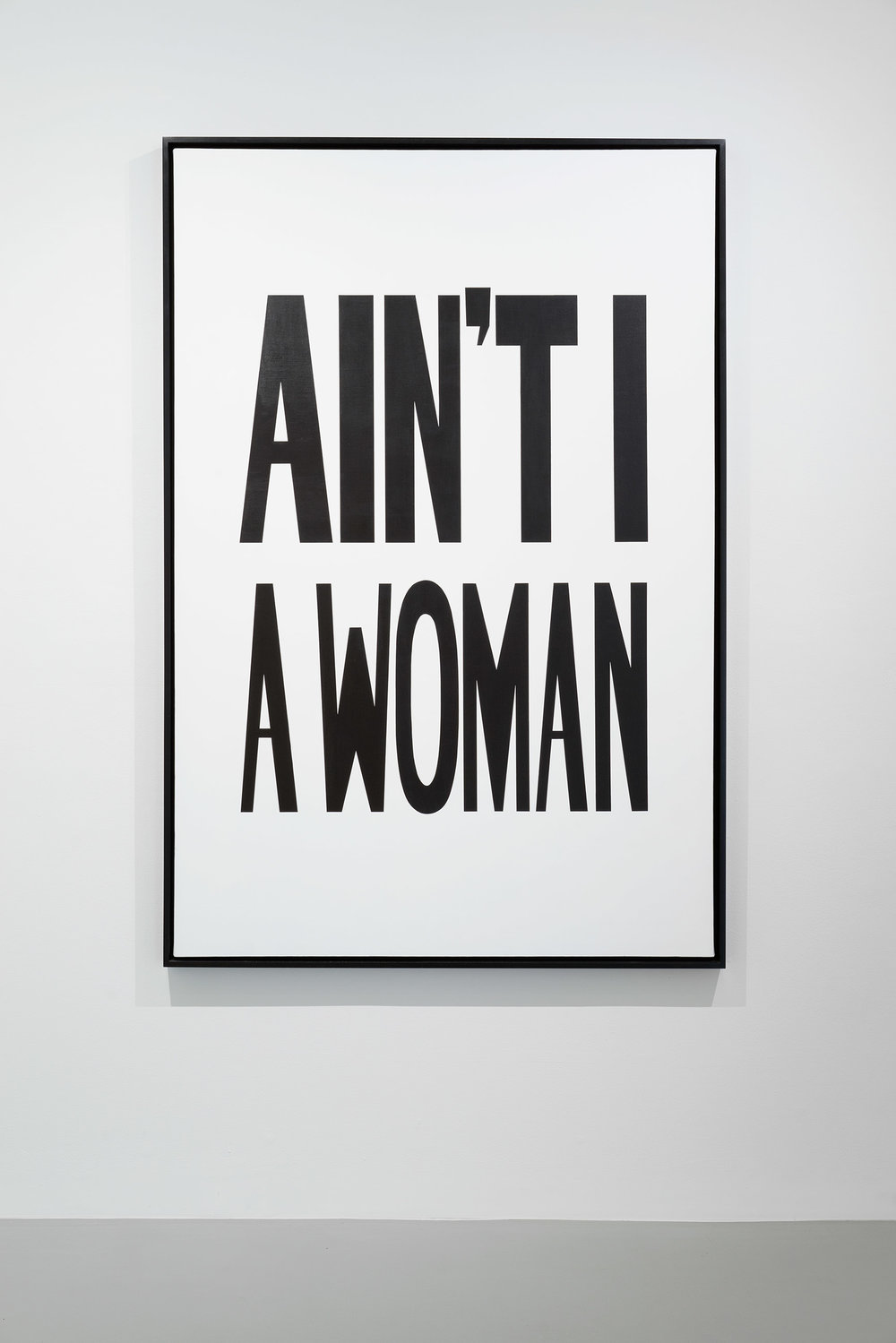 Hank Willis Thomas, Ain't I A Woman, 2013, Liquitex on canvas, installation view. STUDIO LHOOQ/COURTESY THE ARTIST AND JACK SHAINMAN GALLERY, NEW YORK