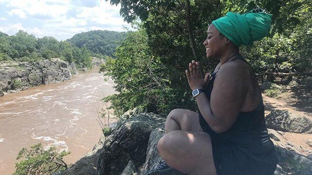 Your self-care must e v o l v e as you do. ••• #aseatonthemat #breathebetter #blackyogis #blackwoman #yoga #health