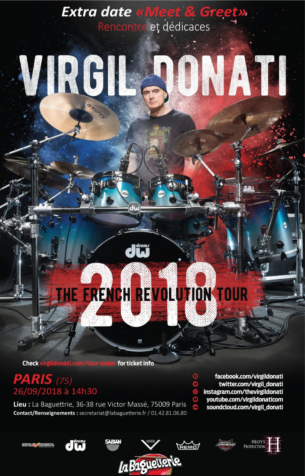 Meet Greet Added To Upcoming French Revolution Tour Virgil Donati