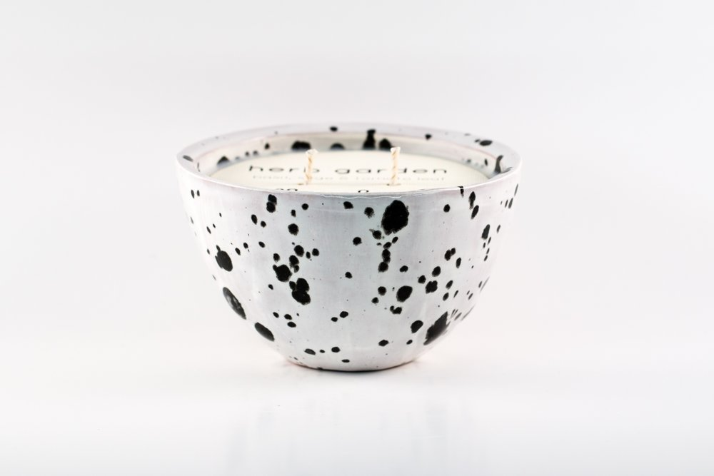 Small Bowl _ Dalmatian _ Side View _ Ceramic _ Soy Candle _ SH _ Cropped.jpg