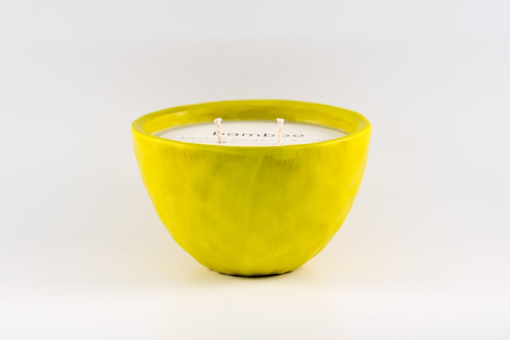Small Bowl _ Chartreuse Matte _ Side View _ Ceramic _ Bamboo _ Soy Candle _ SH _ Cropped.jpg