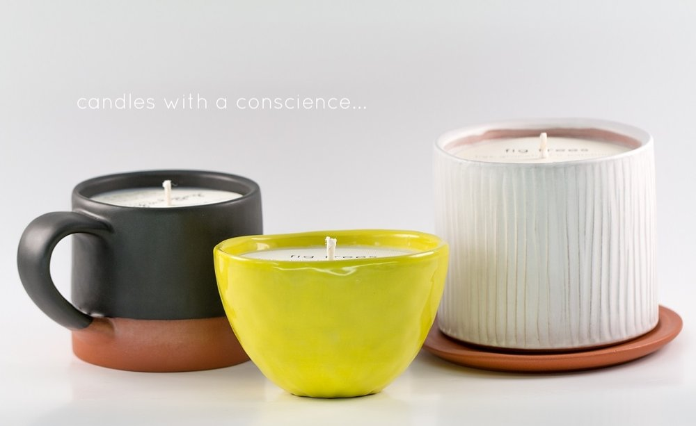 Resized _ Planter _ Matte White _ Drain Plate _ Chartreuse _ Small Bowl _ Matte Black _ Mug _ Soy Candle _ Ceramic _ Angle View.jpg