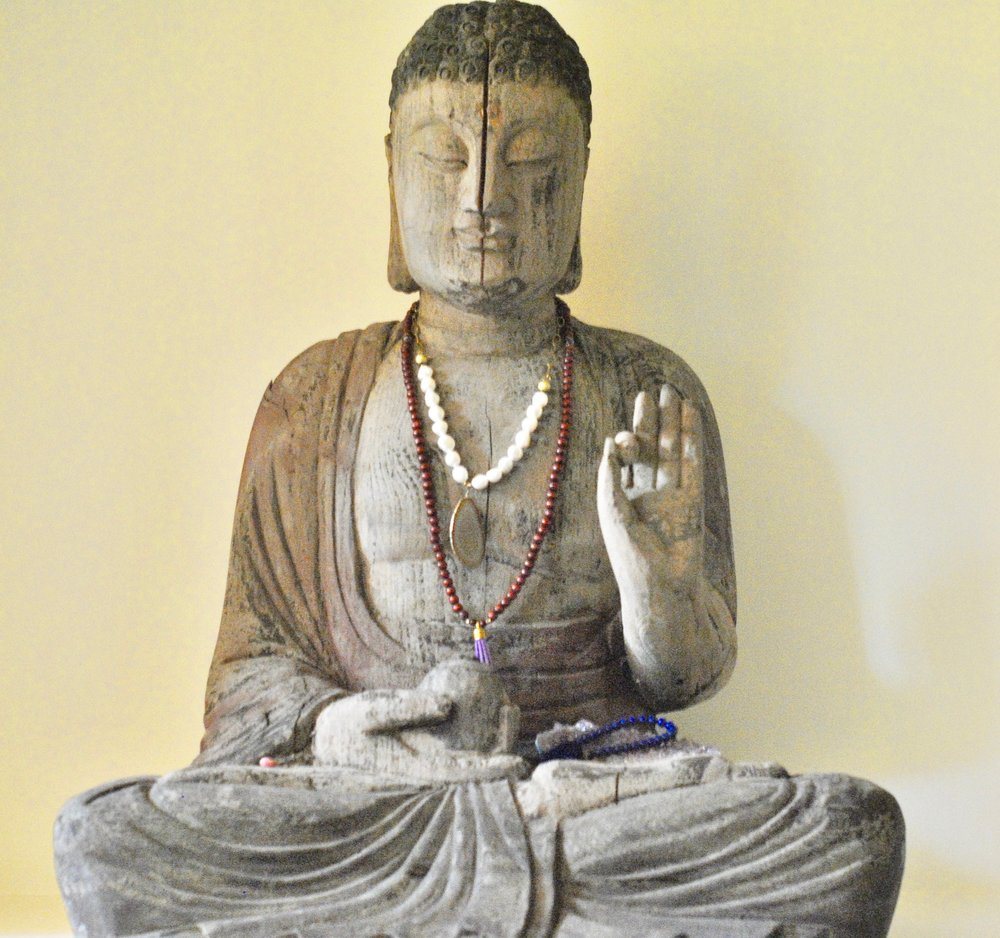 This fabulous Buddha was a gift from my husband. I found it in a shop in Blowing Rock, North Carolina and knew that I had to have it! It sits in my meditation room and inspires me to meditate (mostly) daily.