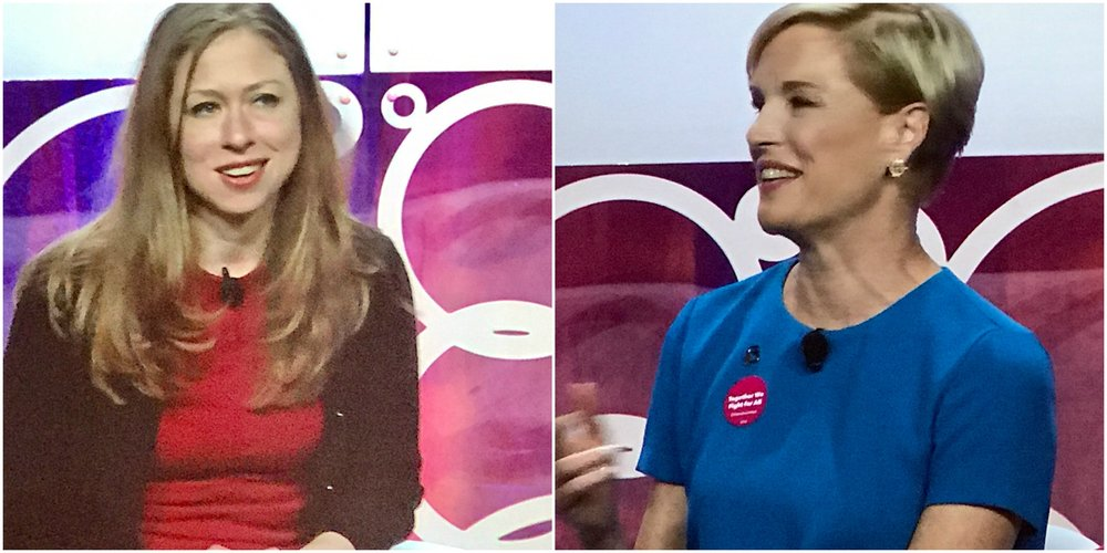 Chelsea Clinton and Cecile Richards at BlogHer2017