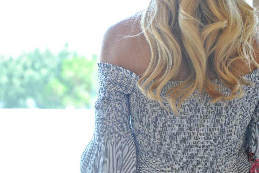 LOFT Blouse and Blonde waves