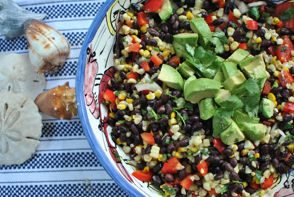 Black Bean and Grilled Corn Salad for a Crowd