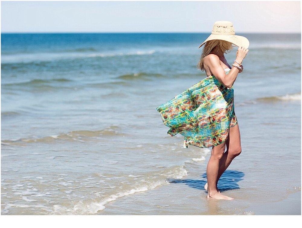 Héliquadrisme scarf beach style