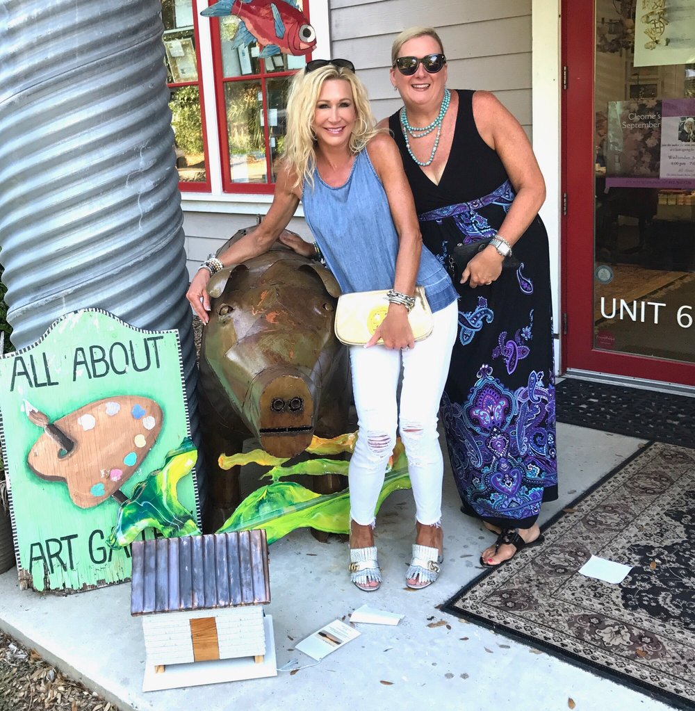 all about art gallery bald head island crazy blonde life