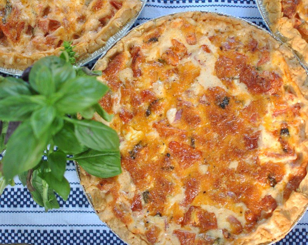 Homemade tomato pie