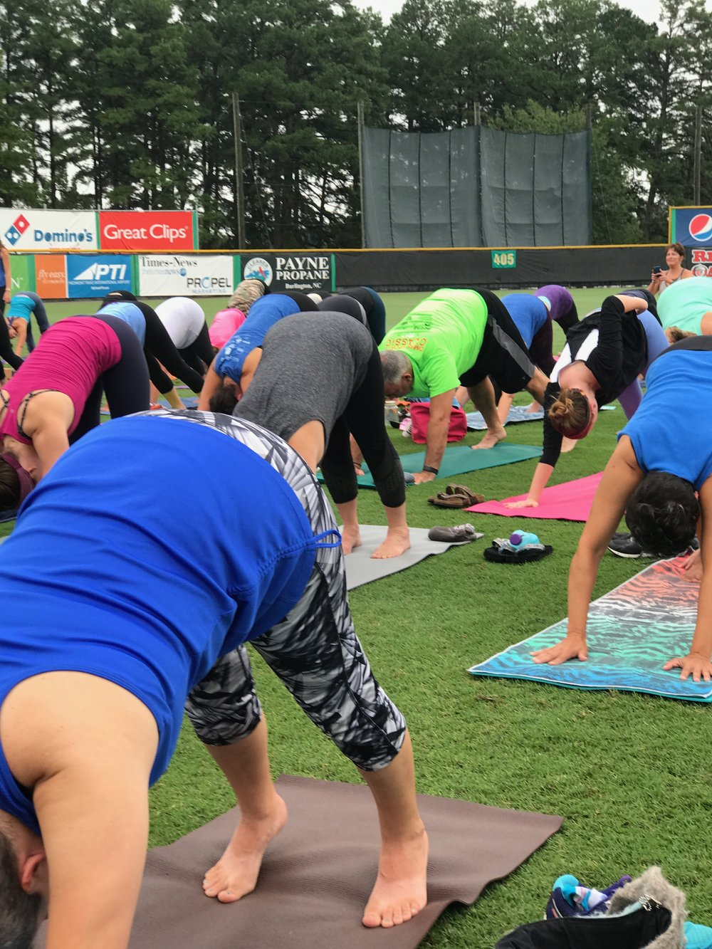 Yoga at the Ballpark