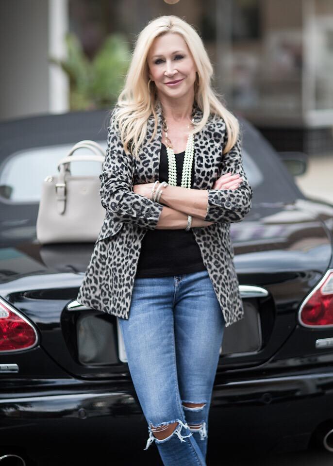 Cabi leopard print jacket