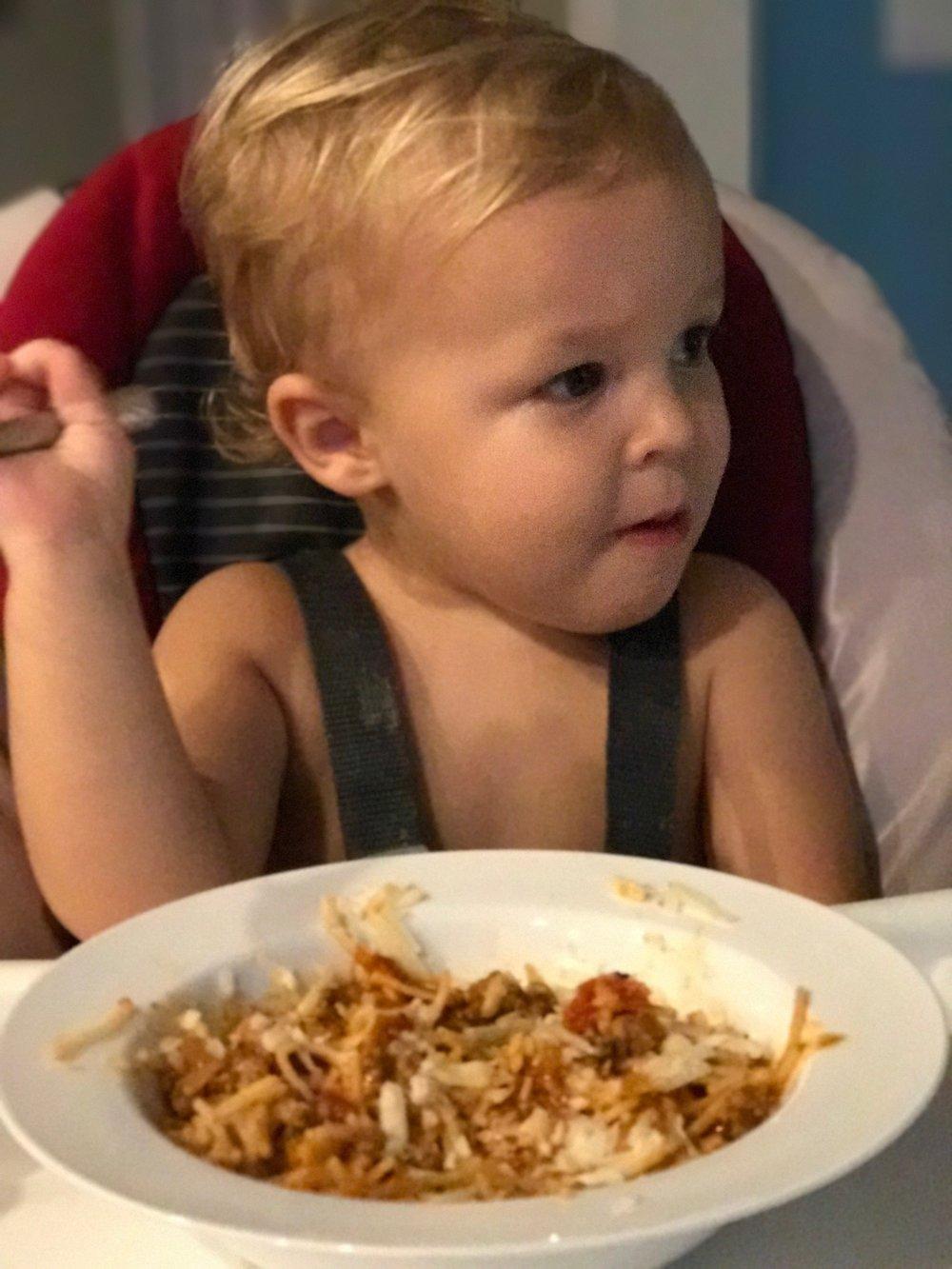 Spaghetti for dinner