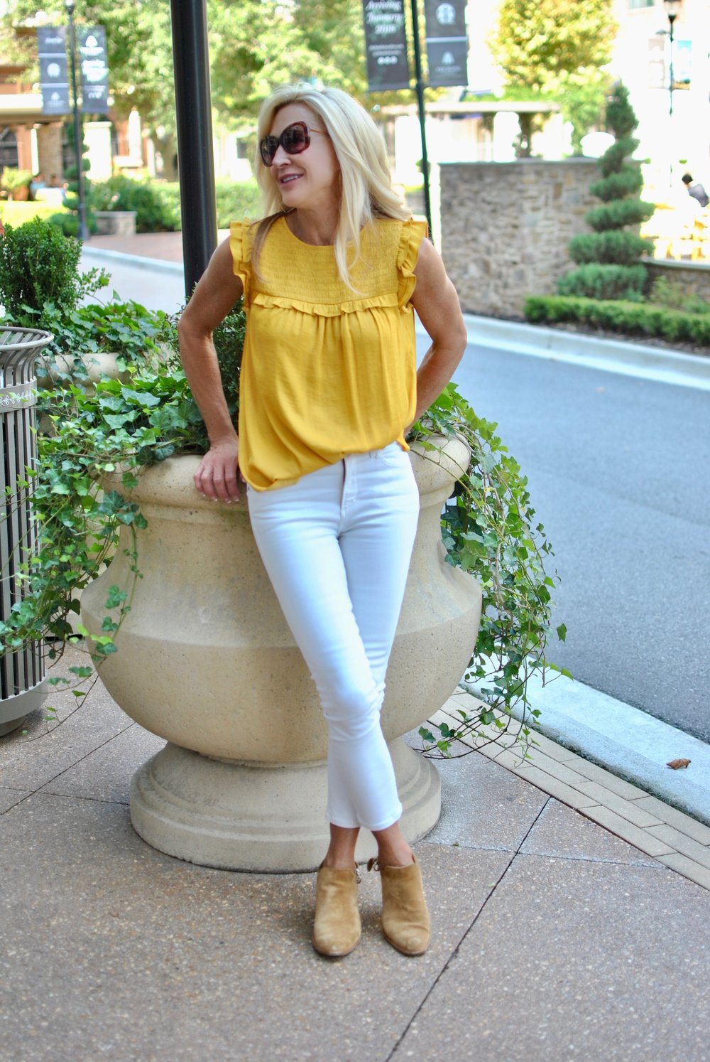 Loft top with Citizens of Humanity Jeans