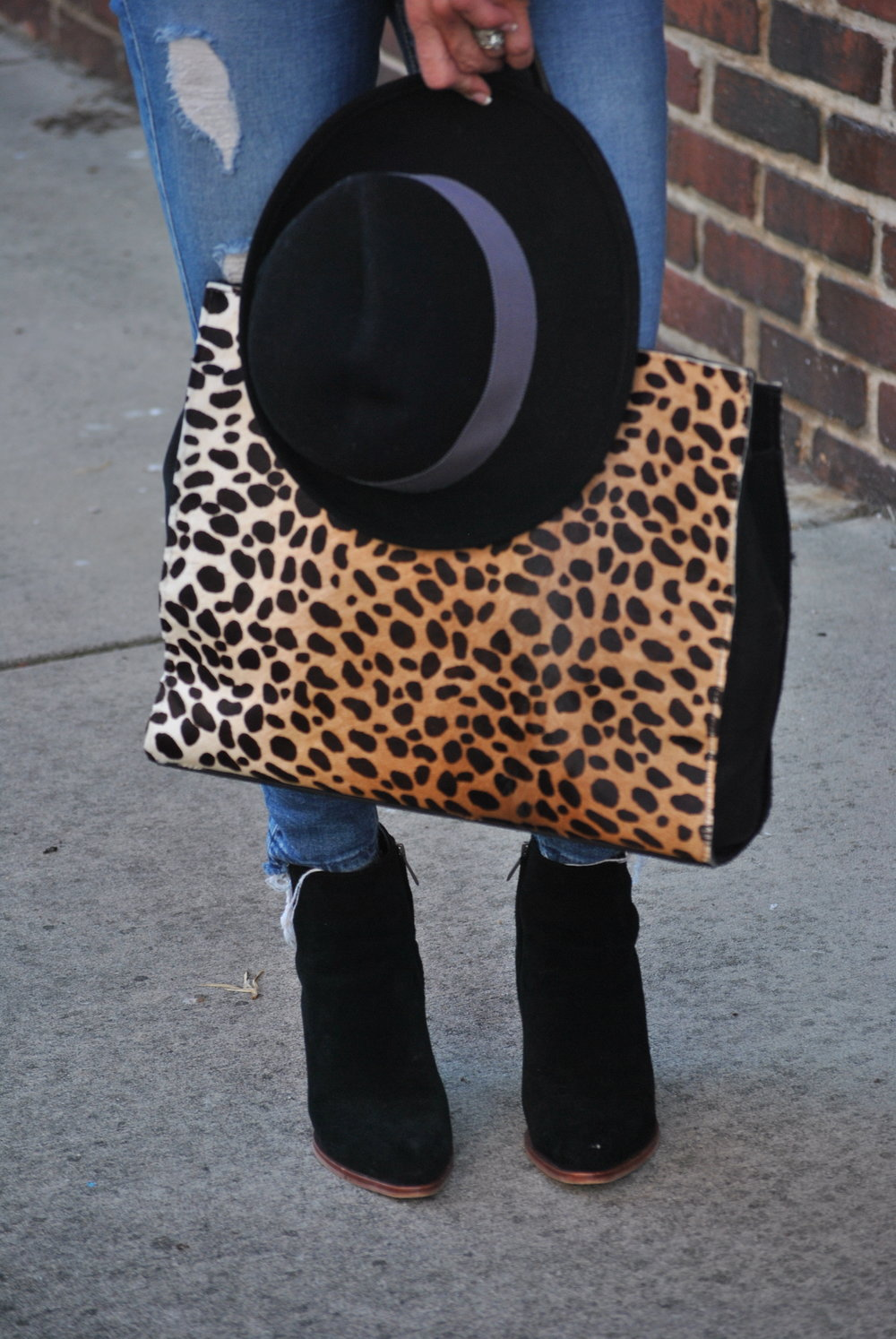 Henri Bendel bag and Rag and Bone Hat