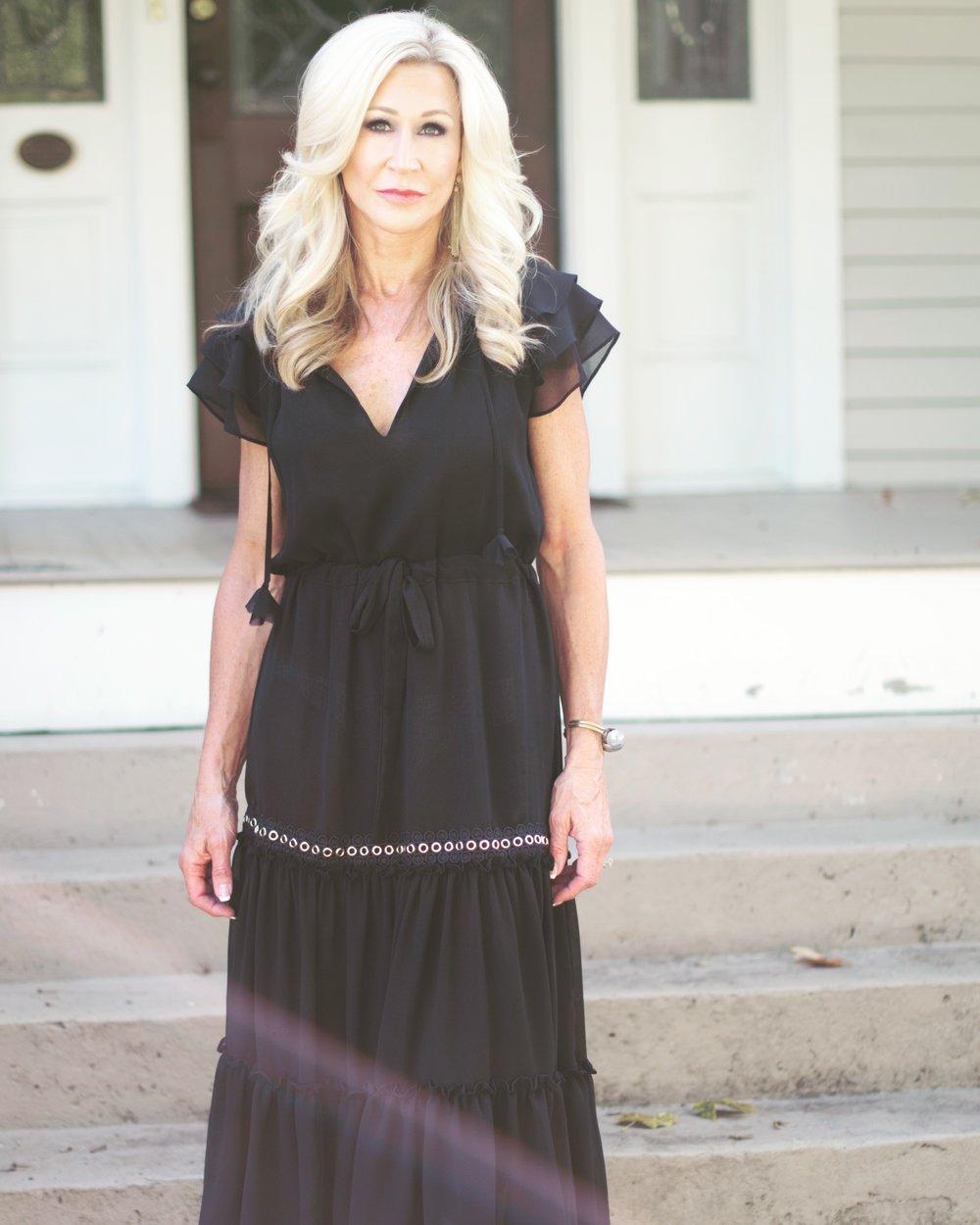 Misa Los Angeles black dress