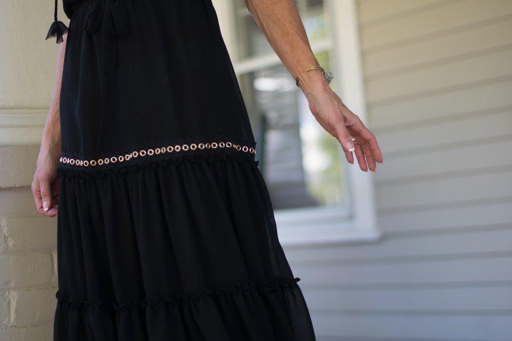Detail of Misa Los Angeles dress