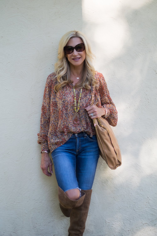 Crazy Blonde Life 70's Boho Style Fall Fashion