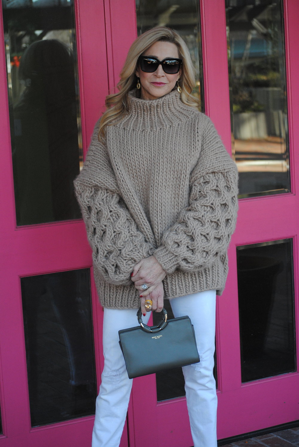 Hot to style an oversize turtleneck