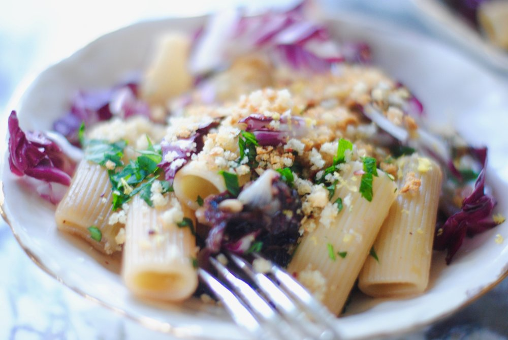 Rigatoni with Prosciutto and Radiccio