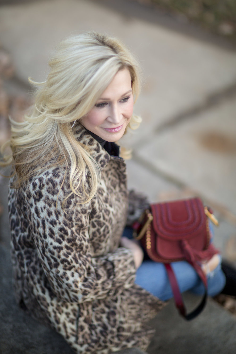J Crew Leopard Coat & Chloe Bag