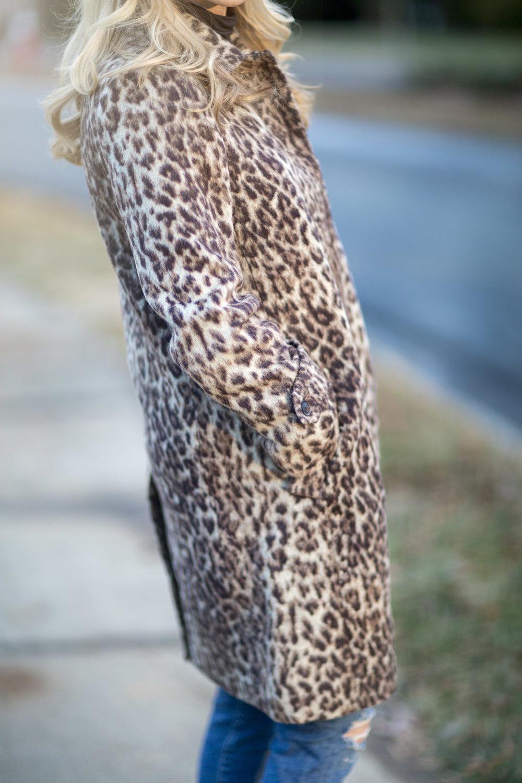 J Crew Leopard Coat
