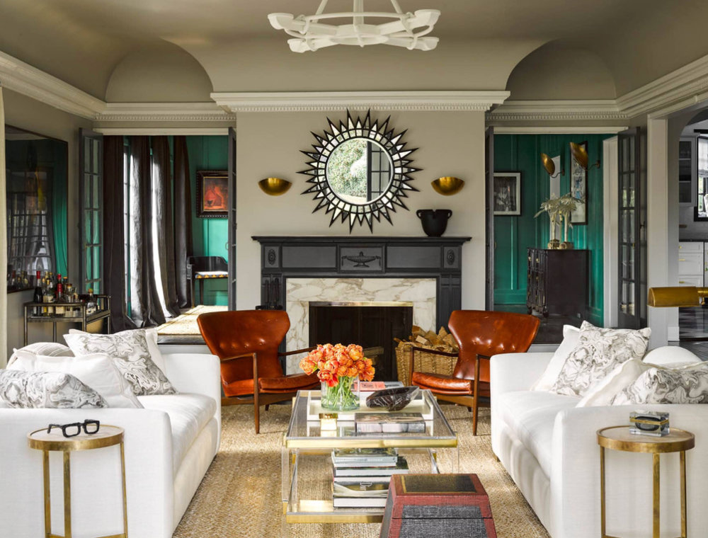 Room designed by Georgia Tapert Howe in Elle Decor Magazine