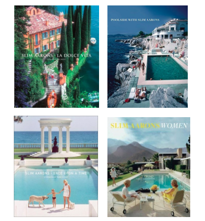 Slim Aarons Photography Books - I love any book by with Slim Aarons Photography.  Slim Aarons was an American Photographer known for photographing celebreties, jet setters and socialites.  His iconic photographs are as interesting as they are beautiful!