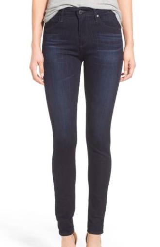 AG - High Waist Skinny Jeans