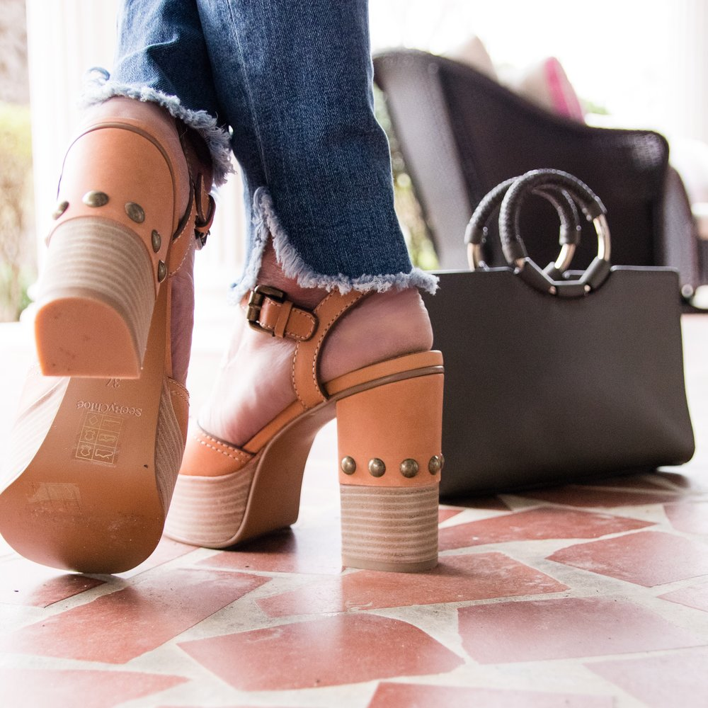 See by Chloe shoes and Henri Bendel bag