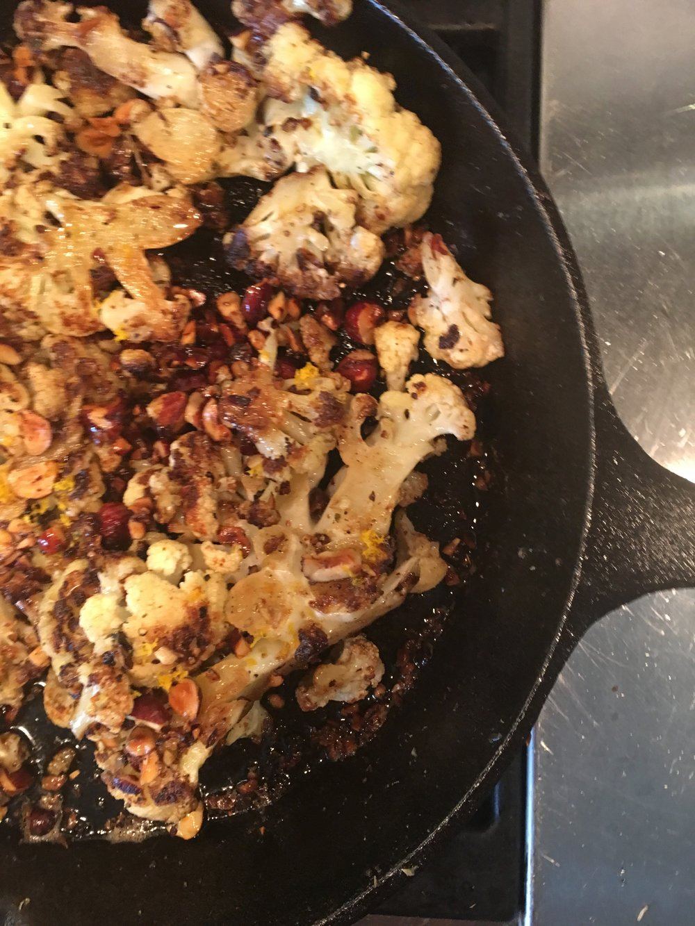 Roasted Cauliflower with Hazelnut Browned Butter
