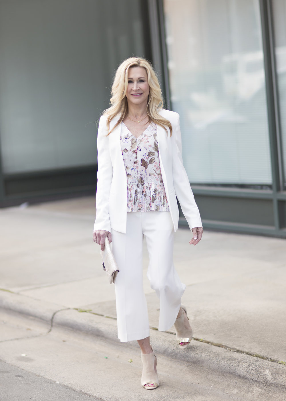 Spring Suit Paired with Rebecca Taylor Blouse