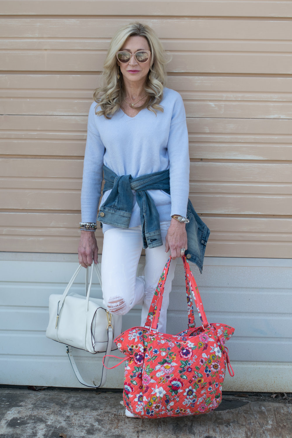 Casual Spring Outfit Idea with Vera Bradley