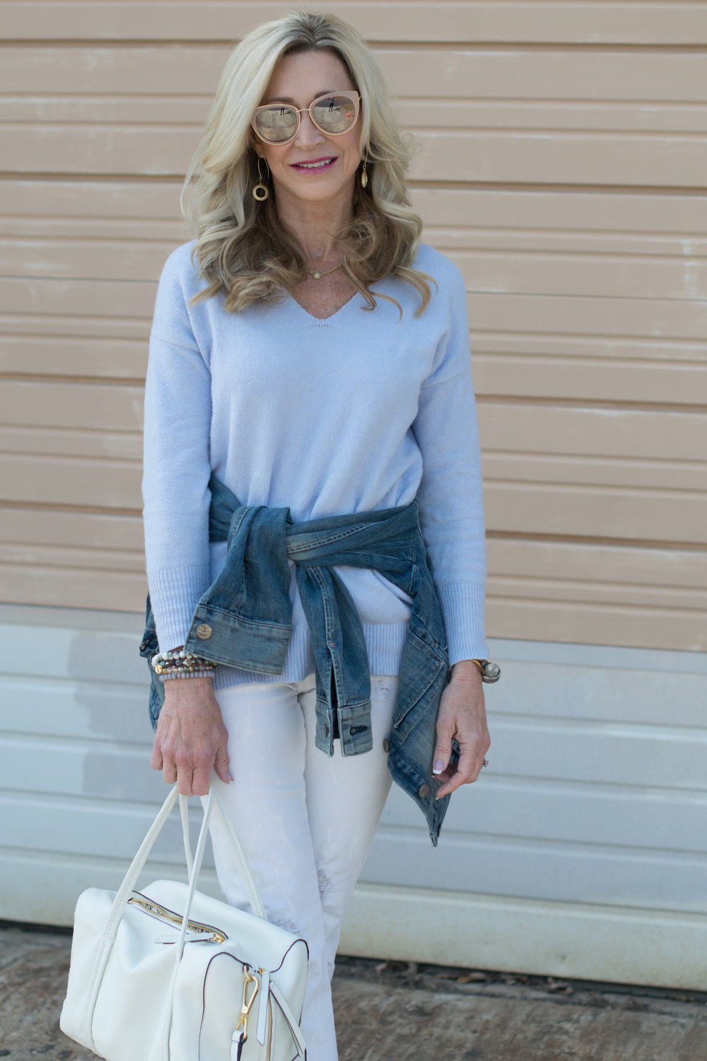 Spring outfit idea with Vera Bradley bags
