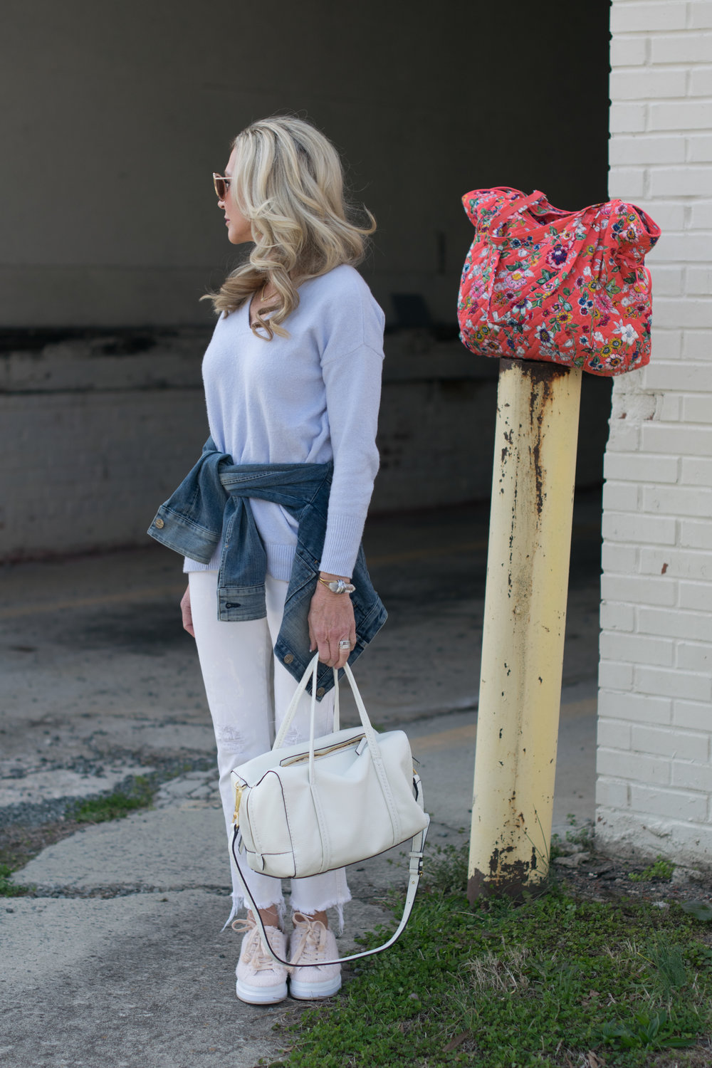 Spring Outfit idea withVera Bradley bags