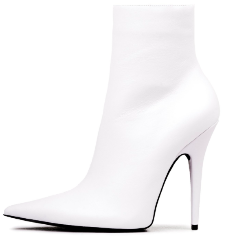 White Booties from Jeffrey Campbell -