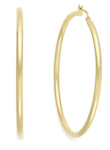 Round Hoop Earrings  - $90.00