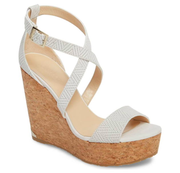 Jimmy Choo Platform Wedge - A wedge heel is a necessity for summer.  White goes with everything and these are fabulous!