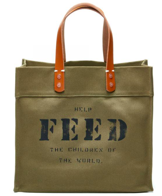 Not only is this a great bag, but the money goes to help feed the world!  Read more here! - Feed Bag 78.00
