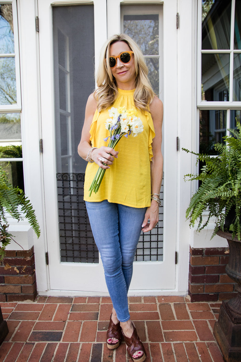 Yellow Anthropologie Top for Spring