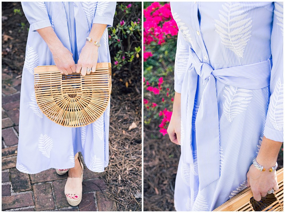 Cult Gaia Bag and Zara Shirtdress