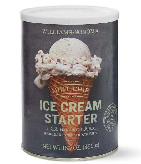 Chocolate Chip Mint Ice Cream Starter - Williams Sonoma $14.95