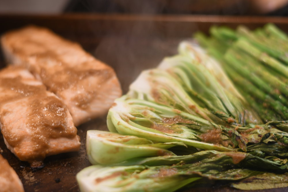 Miso Glazed Salmon with Bok Choy and Asparaux